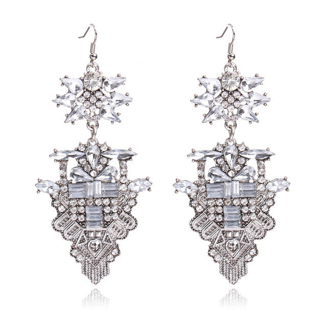 Luxury Rhinestone Drop Crystal Vintage-Inspired Earrings