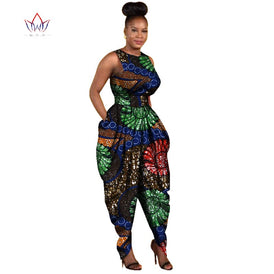 African-Inspired Bazin Riche Romper/Jumpsuit