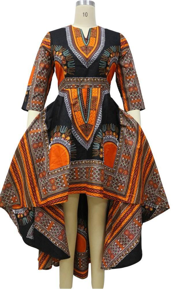 Matching African-Inspired Batik Print Dress & Shirt