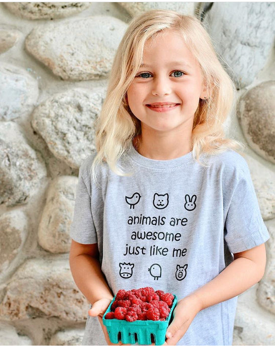 Toddler Tee - Animals are Awesome T-shirt