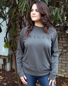 VEGAN - Long Sleeve Unisex Crew Shirt