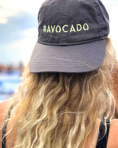 Vegan organic cap hat #avocado
