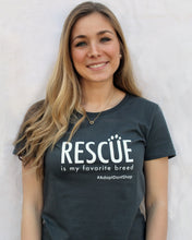 Rescue is my Favorite Breed - Women's Short Sleeve Organic T-shirt