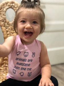 Toddler/Baby Tanks- Animals are Awesome