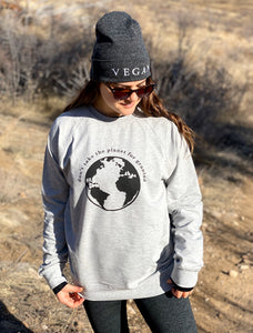 Don't Take Planet for Granted - Unisex Long Sleeve Crew Shirt