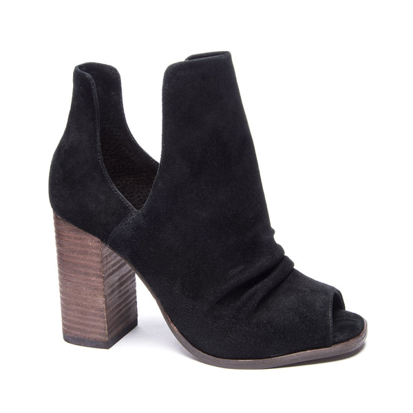 "Lash ""Suede Cut Out Bootie W/ Peep Toe"""