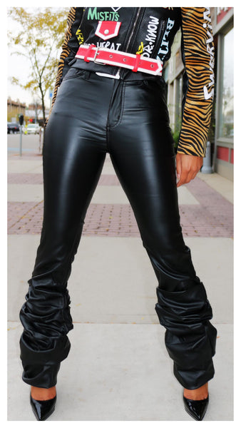 My Slouchy Leg Faux Leather Pant