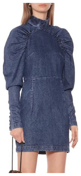Whitney Denim Button Dress
