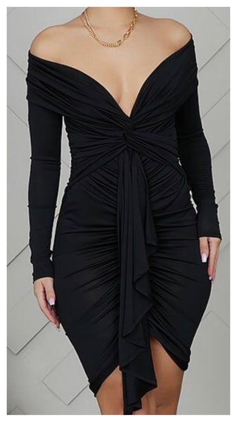 Sexy Date Night Ruched Dress