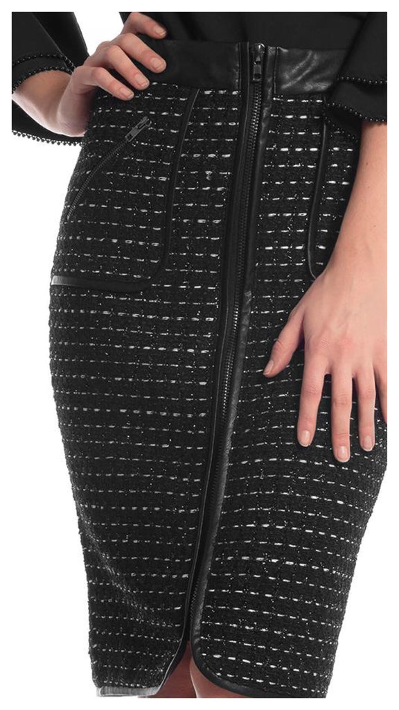 Add A Little Sparkle Fitted Zipper Skirt