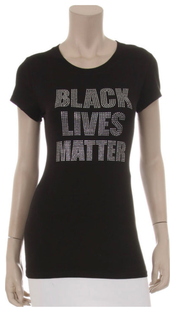 Black Lives Matter Rhinestone T-Shirts (Available in plus size)