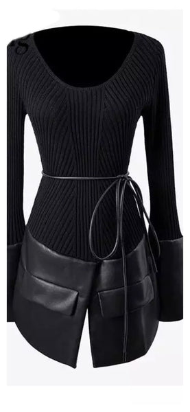 Smooth Operator Faux Leather Top