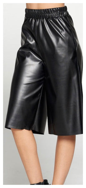 The Straight Method Faux Leather Shorts