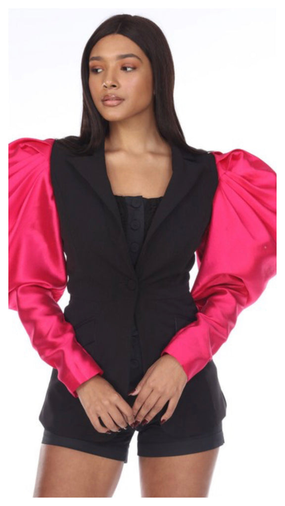 Our Satin Fantasy Fitted One Button Blazer