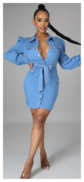 Simply Denim Button Dress