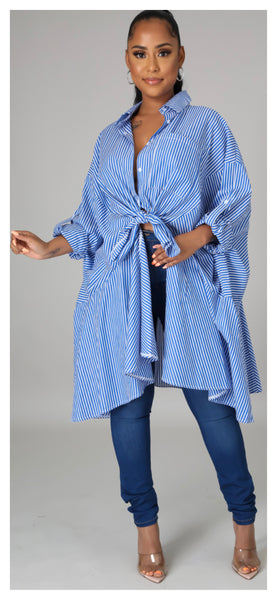 On the Way! Long Tunic Top (Blue)