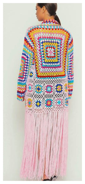 The Crochet Multi Long Fringe Sweater