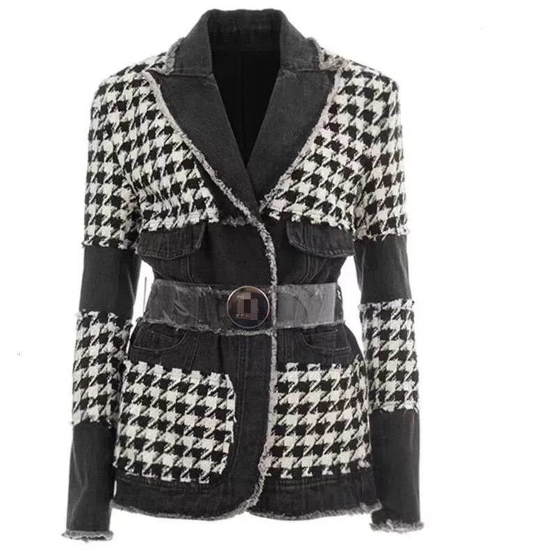 Check it Out Denim Checkered Jacket