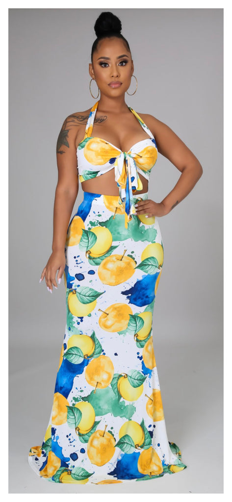 Grown Flowers 2pc Maxi Skirt Set