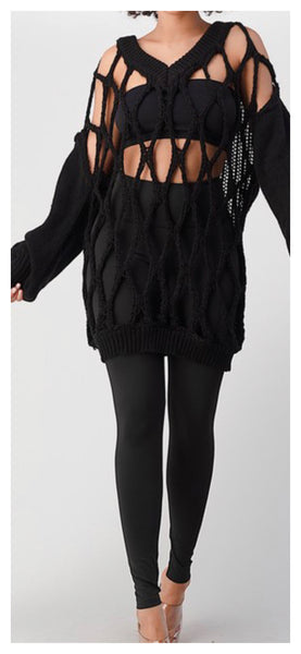 Oh My Wholly Sweater Sweater (Black)