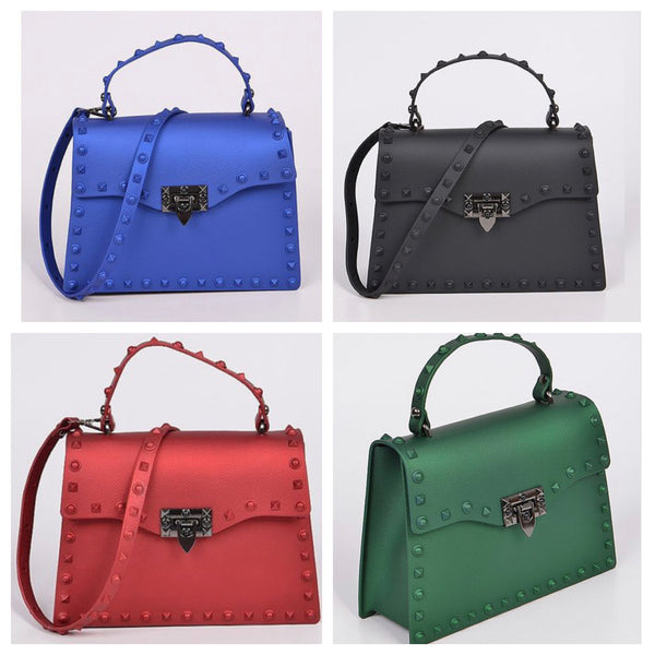 Studs Around Clutch Handle Purse ( More Colors)