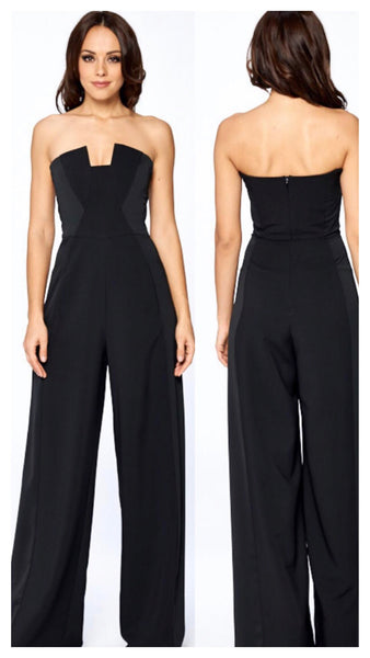 Never Basic Wideleg Halter Jumpsuit