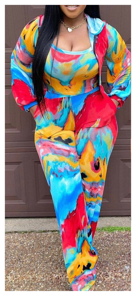 Tide Waves of Color 3pc Pants Set