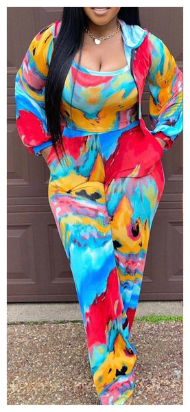 Tidal Waves of Color 3pc Pants Set