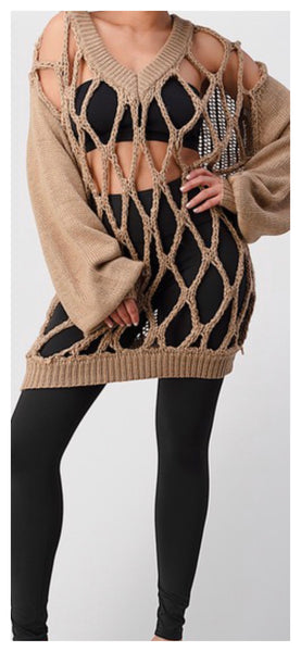Oh My Wholly Sweater Sweater (Beige)