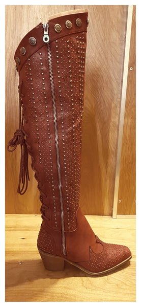 Devil in the Details Stud Riding Boots