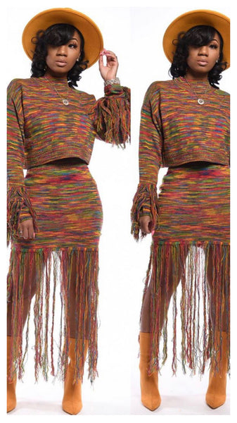 Shake it Up 2pc Multi Color Fringe