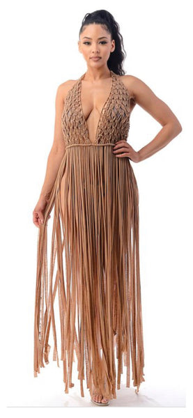 Coverup Cutie Fringe Maxi (Two Colors)
