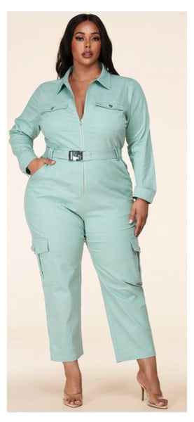 Nydra Long Sleeve Jumpsuit (Plus Size)