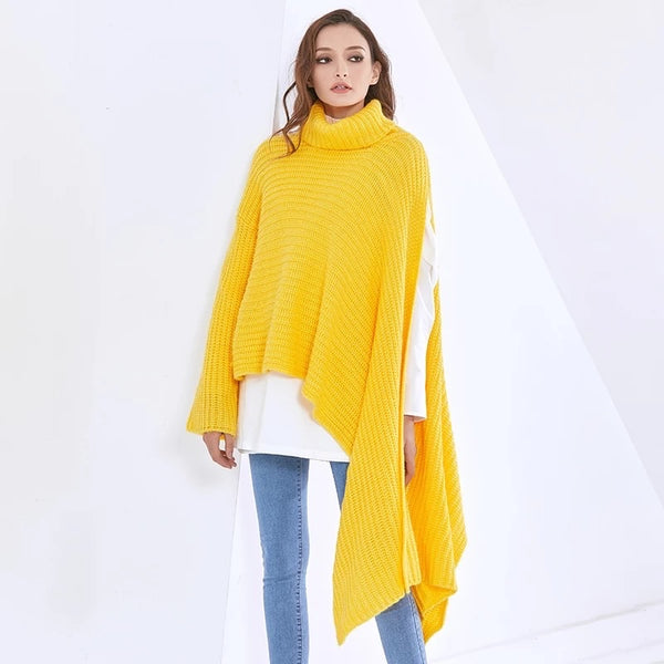 Trailing Along Oversized Knit Sweater (Yellow)