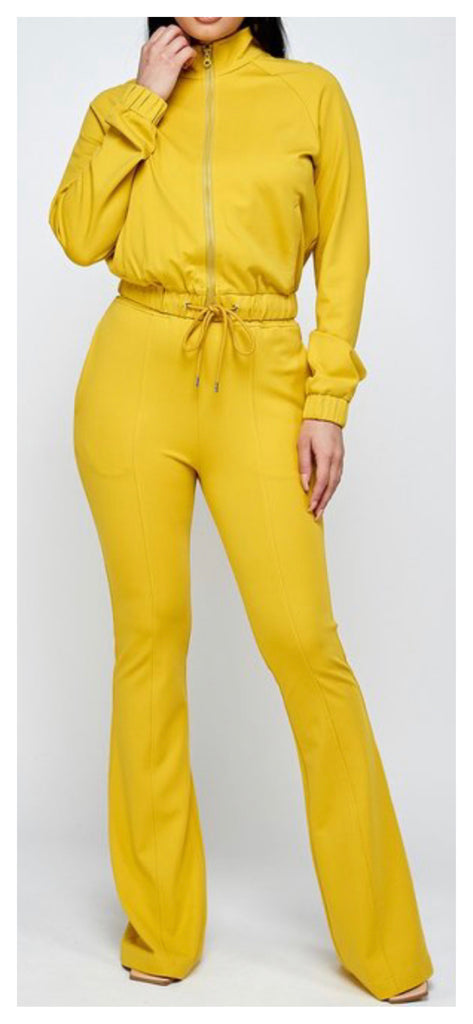 Alexis Flare 2pc Jogger Set ( Yellow)