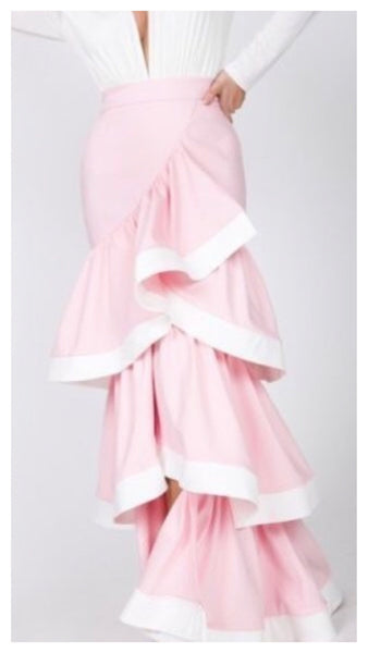 It's layers to it Pretty Pink 3 Tier Skirt
