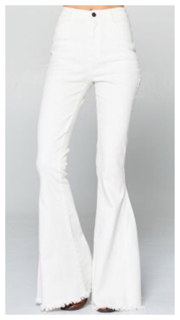 Summer Whites Wide Leg Fringe Denim