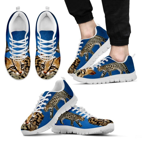 Cheetoh Cat Print (White/Black) Running Shoes For Men-Free Shipping