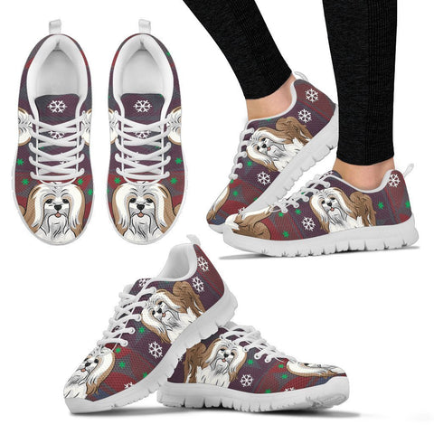Lhasa Apso Dog Print Christmas Running Shoes for Women-Free Shipping