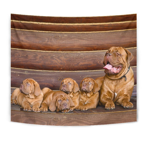 Cute Bordeaux Mastiff Print Tapestry-Free Shipping