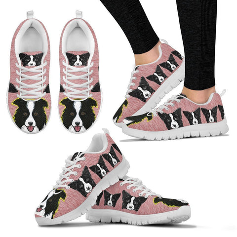Lovely Border Collie Dog-Women's Running Shoes-Free Shipping