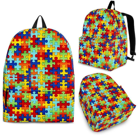 Autism Symbol Back Pack- Free Shipping