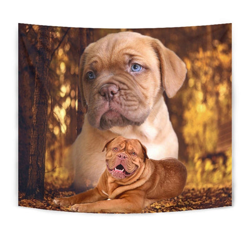 Bordeaux Mastiff Dog Print Tapestry-Free Shipping