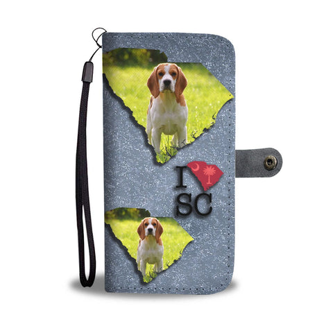 Cute Beagle Dog Print Wallet Case-Free Shipping-SC State