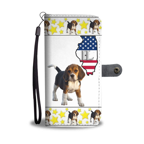 Beagle dog Print Wallet Case-Free Shipping-IL State