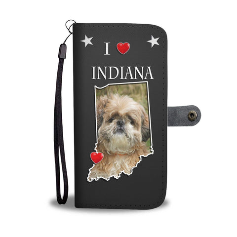 Cute Shih Tzu Print Wallet Case-Free Shipping-IN State
