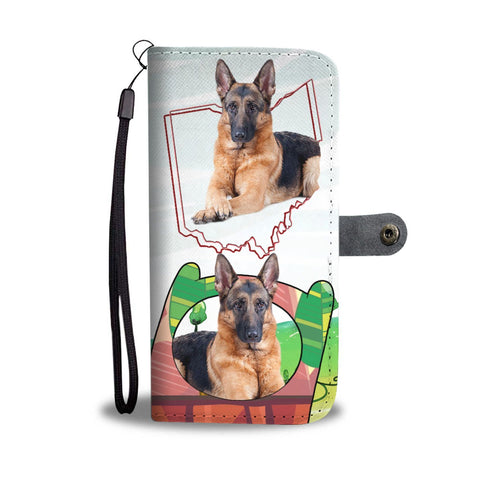 Amazing German Shepherd Print Wallet Case-Free Shipping-OH State