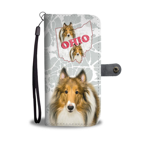Rough Collie Print Wallet Case-Free Shipping-OH State