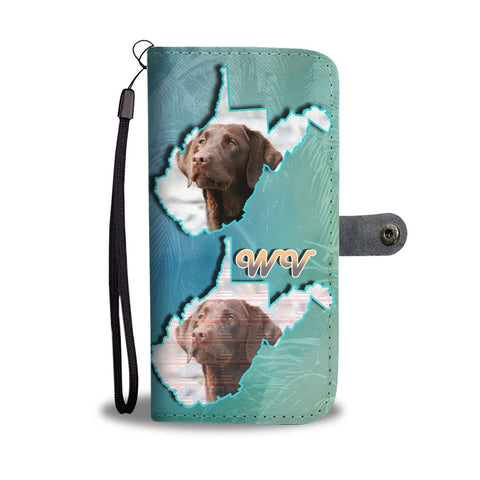 Chocolate Labrador Print Wallet Case-Free Shipping-WV State