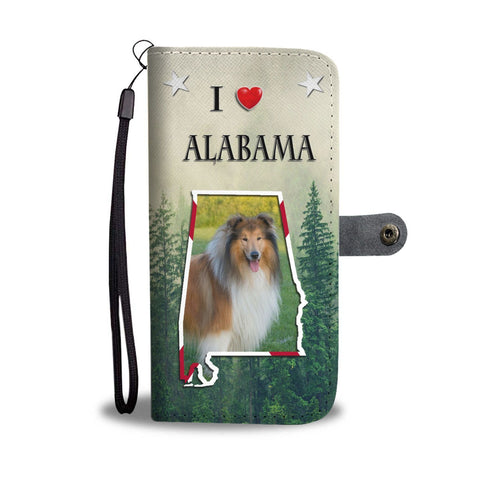 Rough Collie Print Wallet Case-Free Shipping-AL State